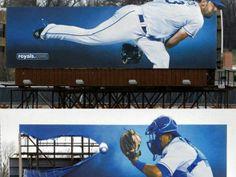 Outdoor duplo usou da criatividade para promover a primeira partida da Liga Nacional de Beisebol dos EUA