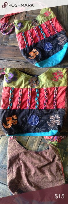 """Nepal hippie boho mandala peace patch shoulder bag Nepal hippie boho mandala peace patch Nepal shoulder bag. Great condition. No rips or stains. 15"""" wide and 13"""" tall. About 17"""" strap drop. Bags Shoulder Bags"""