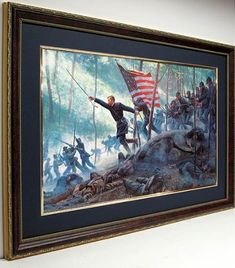 Chamberlains Charge Framed Poster Print Art By Mort Kunstler Artwork Prints, Poster Prints, Posters, Gods And Generals, Vinyl Poster, Gold Art, Wall Art Decor, Framed Art, The Incredibles