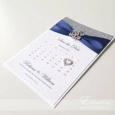 Navy Save the Date Calendars