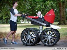 widac, że to tatuś wybierał wózek :-)