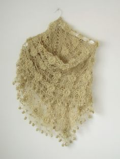 Yellow Mold Mohair Shawl