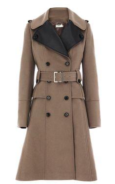 Karen Millen Glamorous Military Coat in Brown