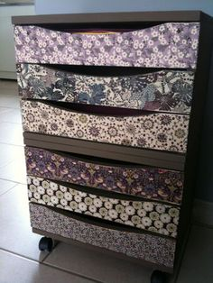 Contact the front of each draw to add style to a bland set of drawers :)