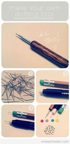 Tutorial DIY Dotting tool Nail Art