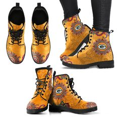 Golden Peace Hand Crafted Logo Pittsburgh Steelers Leather Boots - Votacolors - Victory of the Arts Craft Logo, Aunt T Shirts, Vintage Swim, New Orleans Saints, San Francisco 49ers, Cool Logo, Custom Shoes, Timberland Boots, Cool T Shirts