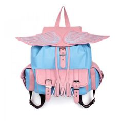 ZLYC Fashion Leather Angel Wing Backpack Schoolbag Handbag (pink+blue) ZLYC http://www.amazon.co.uk/dp/B00EWCKQEM/ref=cm_sw_r_pi_dp_L221tb0ZC7T3GDH9