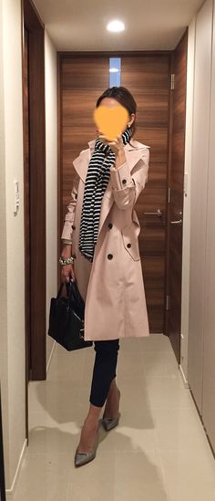 Pink trench coat: Body Dressing