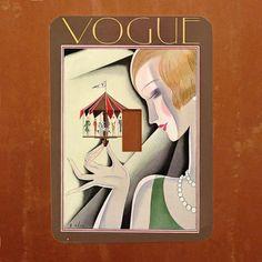 Vogue October 1926  Vintage Art Deco Illustration by Polkadotdog