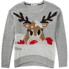 12 Ugly Christmas Sweaters That Are Actually Cute ❤ liked on Polyvore featuring sweaters and christmas