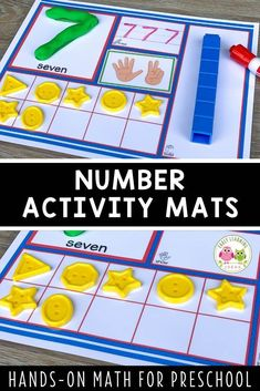 Use these 1-20 number activity mats to help your kids in preschool, pre-k and kindergarten Small Group Activities, Motor Skills Activities, Number Activities, Counting Activities, Kindergarten Curriculum, Preschool Math, Fun Math, Multi Sensory, Activity Mat