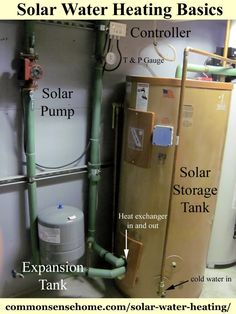 Solar Water Heating Basics - What You Need to Heat Water with the Sun Solar Water Heating Basics - a simple explanation of how solar water heating systems work. Types of systems, system parts, and what to look for in a system. Solar Energy Panels, Best Solar Panels, Off The Grid, Alternative Energie, Water Heating Systems, Water Systems, The Plan, Solar Water Heater, Pool Heater