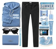 """""""Teal"""" by leah-brooks ❤ liked on Polyvore featuring TOMS, Acne Studios, INDIE HAIR, Neutrogena, Essie, Forever 21, Thalgo, Bumble and bumble, DKNY and NYX"""