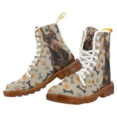 #TeeAmazing - #e-joyer Doberman Dog White Boots For Women - AdoreWe.com