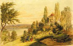 Schloss Arenenberg von Südwesten.