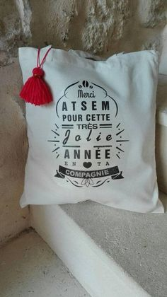 Cadeau maîtresse maître tote bag personnalisable