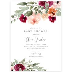 Floral Baby Shower Invitation | Forever Your Prints