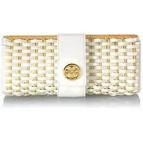 Tory Burch woven patent clutch  @ Bag Borrow or Steal