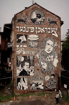"""""""New big wall in Krakow! A tribute to the great Moshe Lilien."""""""