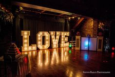 LED Giant Love Letters provided by Gary at www.KillaParty.co.uk Photo by Stephen Bailey Photography