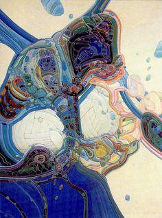 Organic paintings by Moebius