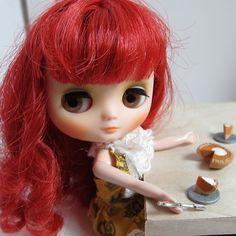 Pumpkin pie for middie blythe doll