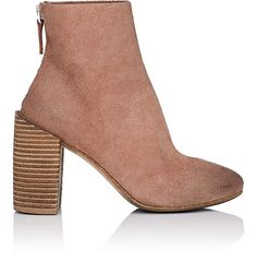 Marsell Distressed Suede Ankle Boots - 9 Pink
