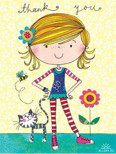 Ideas Birthday Design Illustration Posts For 2019 Girl Cartoon, Cute Cartoon, Cute Drawings, Cartoon Drawings, Birthday Design, Jolie Photo, Cute Illustration, Birthday Greetings, Cat Art