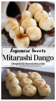 Asian Desserts, Köstliche Desserts, Dango Recipe, Onigiri Recipe, Japenese Food, Japanese Street Food, Asian Street Food, Best Street Food, Easy Japanese Recipes