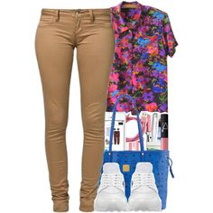 8:28 pm by ashcake-wilson on Polyvore featuring moda, NIKE and MCM