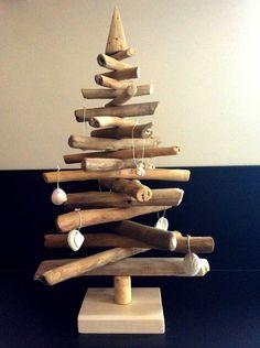 Bricolage no l and google on pinterest - Sapin de noel en bois flotte ...