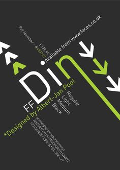 din type face poster design
