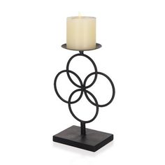 Ivy Bronx Classic Candle Metal Candlestick