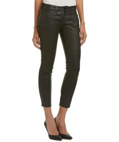 THE KOOPLES The Kooples Leather Effect Short Fit Jean'. #thekooples #cloth #jeans