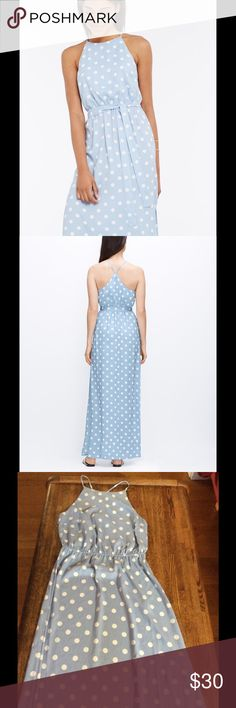 Ann Taylor Blue Polka Dot Maxi Dress Size 4. Maxi dress. Never worn since it's too long on me. Ann Taylor Dresses Maxi
