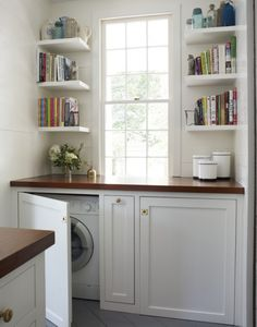 hide appliances behind cabinets