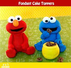 Cake toppers by mjtabush on Etsy, $50.00