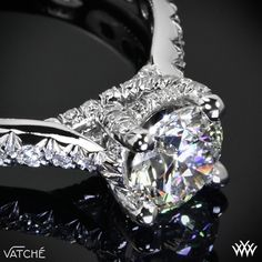"""Elegance and beauty converge with The """"Jennifer"""" Diamond Engagement Ring by Vatche."""