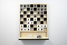 Cool!  A vertical chess board.