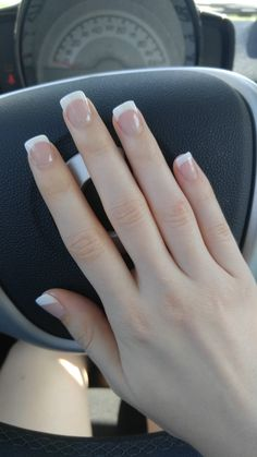 french nails wedding Tips in 2020 White Tip Acrylic Nails, Square Acrylic Nails, Short French Nails, Short Nails, French Tip Nail Designs, Short Nail Designs, Design Ongles Courts, Do It Yourself Nails, Beauty Nail