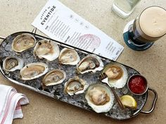 A tribute to the old-fashioned raw bar at Eventide Oyster Co. in Portland, Maine
