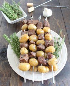Herb Marinated Grilled Steak Skewers