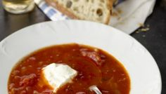 South of France Tomato Soup with Young Chevre | The Splendid Table