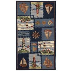 Coastal Area Rugs, Floral Area Rugs, Blue Area Rugs, Coastal Decor, Wool Area Rugs, Wool Rug, Chelsea Blue, Nautical Rugs, Nautical Pattern