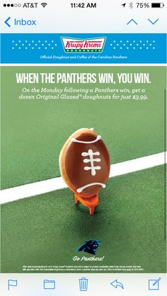 Panthers Krispy Kreme 2014 Win Promotion