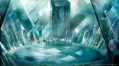 Fortress of Solitude Avatar Aang, Fantasy Places, Fantasy World, Fantasy Landscape, Landscape Art, Cube World, Lilo E Stitch, Crystal Room, Matte Painting
