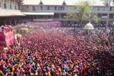 The Hindu festival of Holi is under way in India. The two-day celebration signifies the victory of good over evil and marks the end of winter and the arrival of spring End Of Winter, Hindu Festivals, Madhya Pradesh, Amritsar, Color Powder, Colorful Pictures, Mumbai, Her Hair, Holi