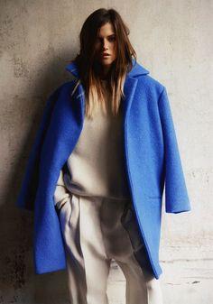 gorgeous blue coat via iiiinspired
