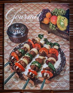 Vintage covers and recipes from Gourmet magazine.