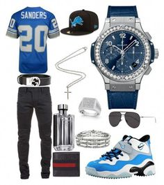 A menswear look from August 2017 featuring mens denim jeans, men's apparel and mens chronograph watches. Browse and shop related looks. Dope Outfits For Guys, Swag Outfits Men, Kids Outfits, Black Men Street Fashion, Mens Fashion, Fashion Brand, Guy Fashion, Fashion 2016, Fashion Online